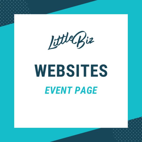 Little Biz Event Page Website